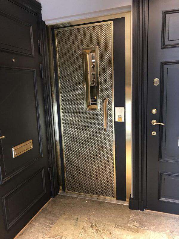 Pahlfer Flätad mässing dörr-1
